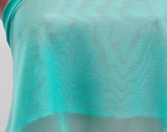 """Aqua  Blue  Chiffon fabric 60"""" wide sold by the yard.. formal..pageant...bridesmaids gowns..decor..curtains"""