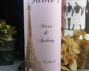 PARIS France Table Luminarie Centerpiece - Gold Eiffel Tower - Personalized - Lantern - Luminaria - French - Parisian