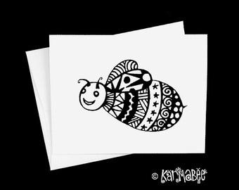 Bee Note Card Blank Notecard