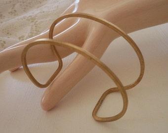 Brass Wire Cuff Bracelet Blank