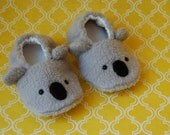 Koala bear baby booties - reserved for Kate