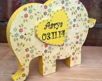 Personalised freestanding Elephant