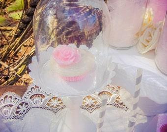 Rose Cupcake Soap, Soap Favor, Cupcake Favor, Birthday Party Favor, Thank You Gift, Shower Favor, Vanilla, Pink Favor, Cupcake Gift