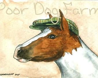 A Horse in a Hat -  print
