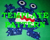 Applique PDF TEMPLATE Pattern....FOULMOUTH The Monster....New
