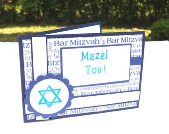 Bar Mitzvah Card, Mazel Tov Card, Jewish Celebration, Boy's Bar Mitzvah, 13 Year Old Birthday, Teen Male Jewish Birthday Card