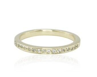 Birthstone Ring, March Mother's Ring or Grandma Ring - Aquamarine Birthstone - LS1579