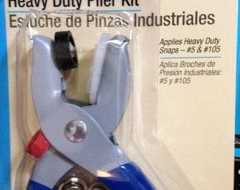 LOT Heavy Duty Pliers Dritz Kit Lot w/ Snaps