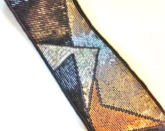 Beaded Embroidered Belt 80s Size M to L