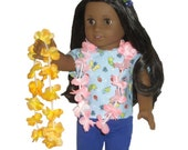 """2 Hawaii Leis - Made to Fit American Girl / 18"""" Kanani Doll - DOLL ACCESSORIES"""
