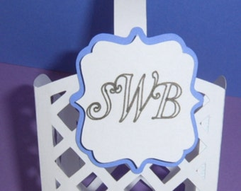 WEDDING or Party Favors - 1 Dozen - Monogrammed
