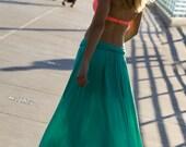 Bohemian Boho Maxi Skirt/ Extreme Volume Maxi/ Real Life Mermaid/ Made in the USA/ Teal Ocean Maxi Skirt