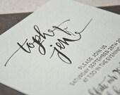 Wedding Invitation Sample, Calligraphy, Hand-lettered