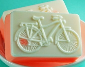 Bicycle Soap - Bike Rider - Mango Madness Scent - Excerise Fanatics - Athlete - Handmade Soap - Handcrafted in USA - Goat's Milk Soap