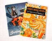 2 Vintage Advertising Recipe Booklets Cookbooks Sunkist Orange Recipes, Sunsweet Recipes 1940 - 1950 Ephemera Retro Collectibles Kitchen