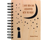 Acquainted With The Night - Lasercut Wood Journal