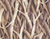 SALE Robert Kaufman Landscapes Tree Branches in Taupe EHJ6964160 tree branches landscape art quilt cotton fabric Yardage
