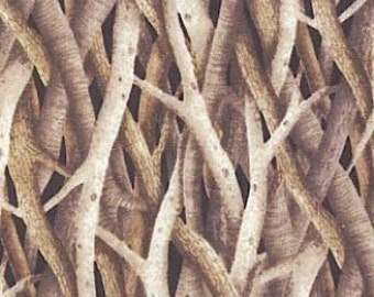 Robert Kaufman Landscapes Tree Branches in Taupe EHJ6964160 cotton fabric FAT QUARTER FQ