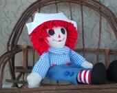 Raggedy Andy Doll Handmade