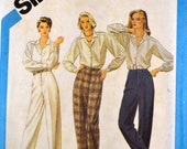 Vintage Sewing Pattern Simplicity 6518 Proportioned Pants  Size 10 Waist 25 Inches UNCUT Complete