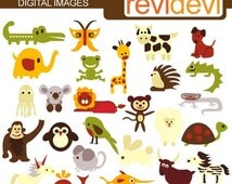 2 on Woodland Sheerwood Forest Animals Clip