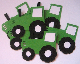 Tractor Paper Die Cuts-Party Decor-Birthday Decor-Invitations-Tractor Die Cuts-Birthday Parties-Confetti