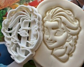 Frozen Elsa Face1 Cookie Cutter / Made From Biodegradable Material / Brand New / Kids Birthday / Baby Shower Cake Girl / Cupcake Topper
