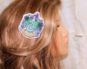 Harry Potter Slytherin House Crest Hair Clip MTCoffinz