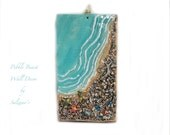 Pebble Beach Wall art Original Hand Crafted Ceramic