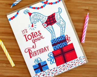 Totes Your Birthday Letterpress Printed Card