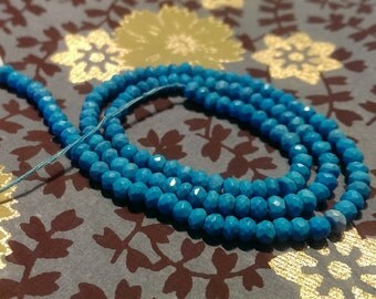 Sleeping Beauty Turquoise 3 to 3.5mm Micro Faceted beads Gemstone Beads Great jewelry Making Supplies
