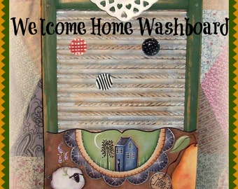 """E Pattern - Martha Smalley's Apple Tree Cottage Designs - """"Welcome Home Washboard"""""""