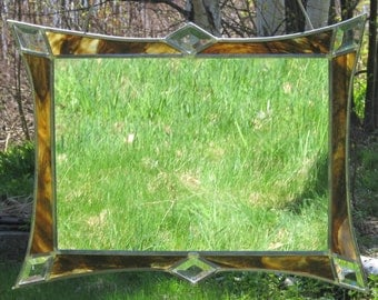 """Framed Mirror - Brown with Clear Bevels - 20"""" x 16"""""""