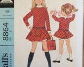 Vintage Girl's Dress Pattern Vintage 1960s McCall's 8864 Sz 5 Bust 23.5 - WV - Vintage Pattern / 60s McCall's / Sewing Pattern / 60s Pattern