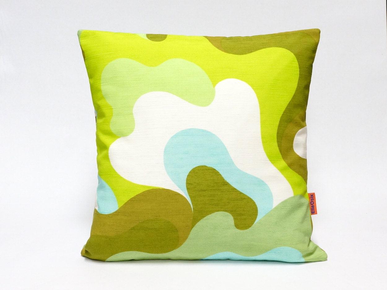 Modern Retro Pillows : 70s Mid Century Modern Retro decorative pillow cover by EllaOsix