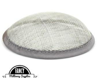 1 - Gray - Grey - Silver  - Round Hat Base - Sinamay Straw - Fascinator - Hat Foundation - Millinery