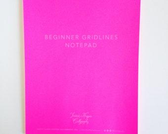 Hot Pink Beginner Gridlines Notepad