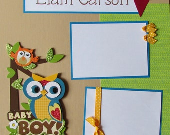PERSONALIZED ~ BaBY BoY ~ 12x12 Premade Scrapbook Pages