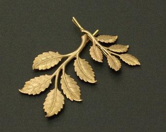 Leaf hair pins leaves bridal golden brass bobby pin wedding hair accessory branch hair slide set woodland rustic twig bridesmaid