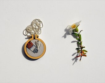 To Heart necklace II - mixed media wearable art