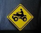 Aluminum mini ATVMiniature   traffc sign