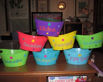 Personalized Plastic Buckets