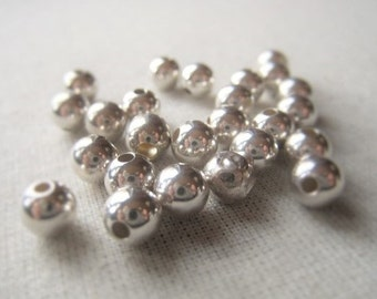 Sterling Silver Orb Parcel 6mm Round 1mm Plus Hole Item No. 3920 4542
