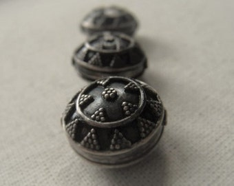 Sterling Silver Bead Oxidized Sterling Silver Bead  Item No.  6898