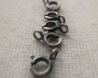 Sterling Silver Clasp Finding Oxidized Sterling Spring Ring 5mm Clasp Item No. 6934