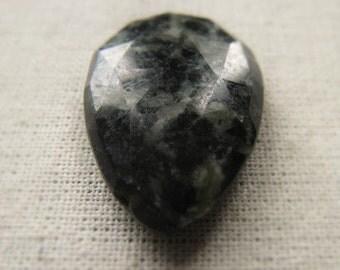 Green and Black Feldspar Gemstone Briolette Item No. 7580