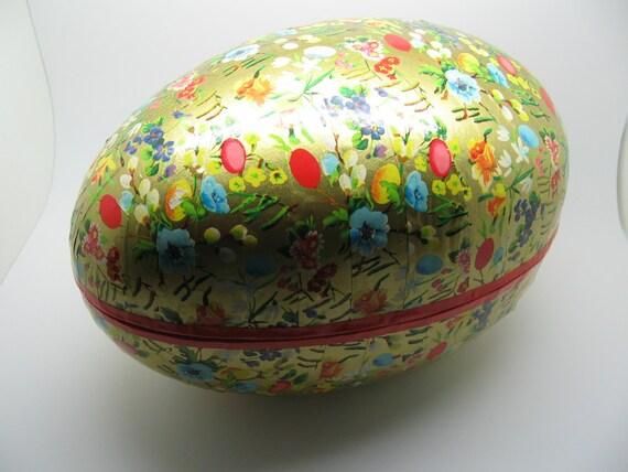 Oversized Vintage German Paper Cardboard Easter Egg Box
