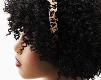 Headband, Natural Hair Headband, Hair Accessories, Hair Jewelry, Natural Hair, Hair Decor, Wild Child Animal Print Headband