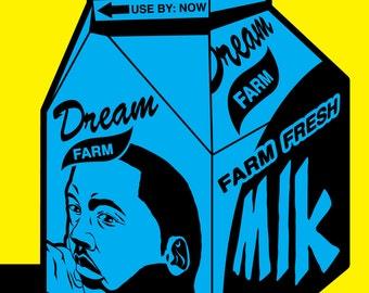 Dr. Martin Luther King Jr Postcard Milk Carton Civil Rights Movement Postcard African American Art Winfred Hawkins Pop Art  5 x 7