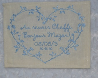 Wedding Dress Label...Your Something Blue...  FREE SHIPPING in USA